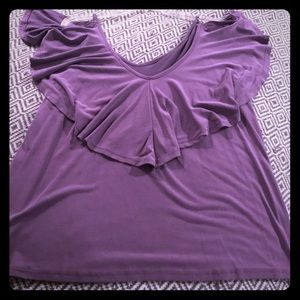 Tops - Brand new tank with ruffle flounce in purple.